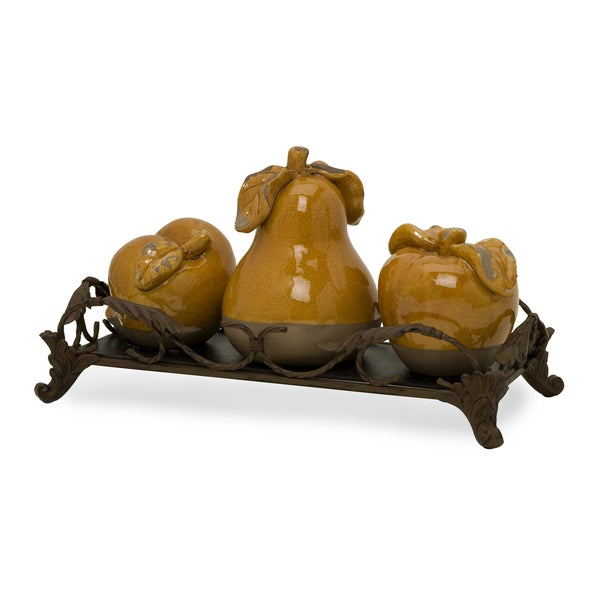 Italia Fruits with Tray (Set of 4)