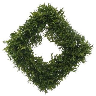 English Boxwood Square Wreath