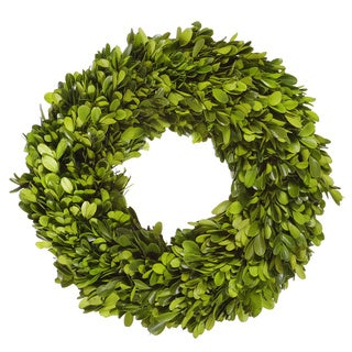 Preserved 12-inch Boxwood Wreath