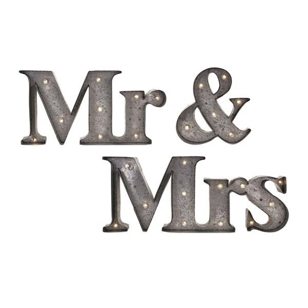 Mr. & Mrs. Lighted Sign (Set of 3)