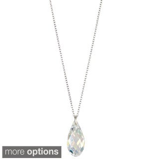 Sterling Silver Austrian Crystal Briolette Necklace