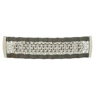 1928 Jewelry Blacktone and Silvertone Vintage-inspired Hair Barrette