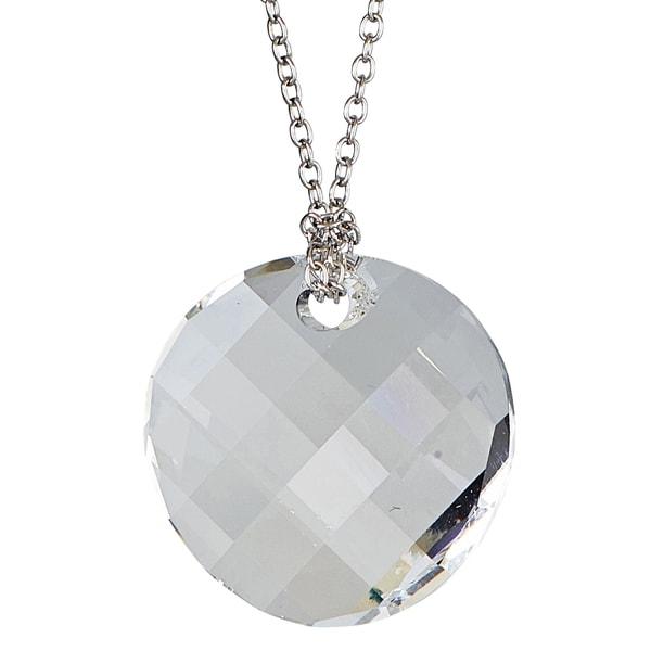 Sterling Silver Austrian Crystal Twist Necklace