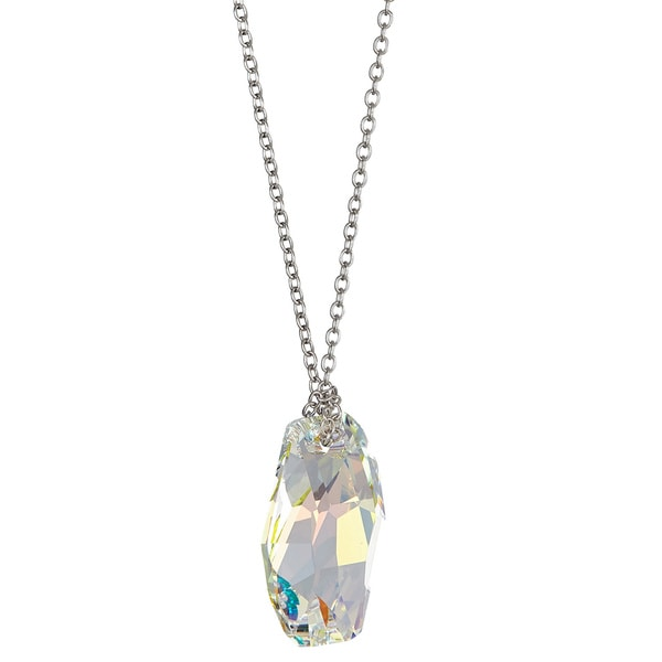 Sterling Silver Austrian Crystal Meteor Necklace