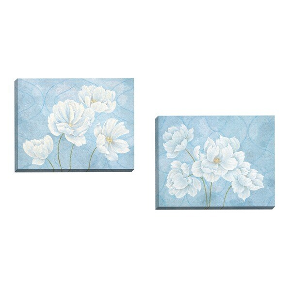 Claire Hudson 'Pure Grace I' Framed Canvas Wall Art (Set of 2)
