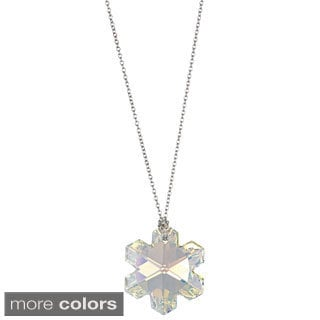 Sterling Silver Austrian Crystal Snowflake Necklace