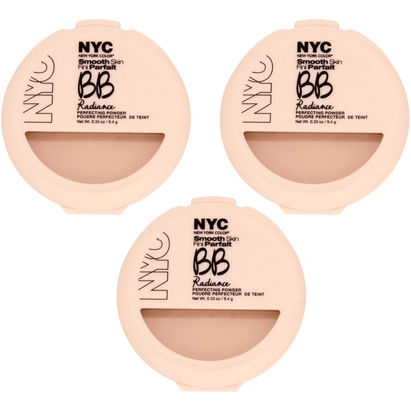 N.Y.C. BB Radiance Naturally Beige Perfecting Powder (Pack of 3)