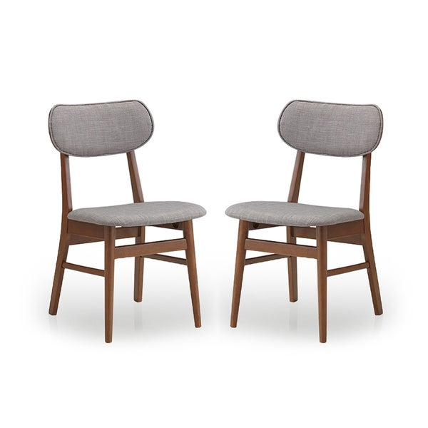 Set of 2 Sacramento Mid-Century Solid Wood Dining Chairs (As Is Item)