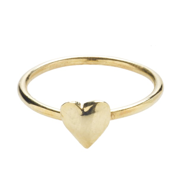 Sterling Silver Flat Heart Ring