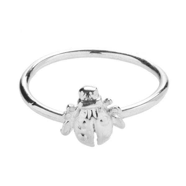 Sterling Silver Flying Beetle Ring