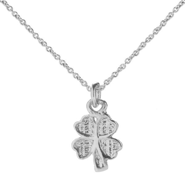 Sterling Silver Four-leaf Clover Pendant Necklace