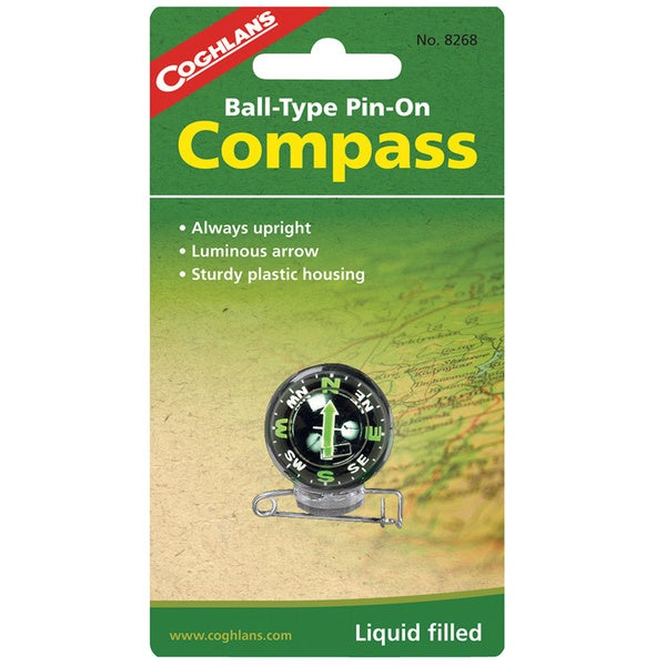 Coghlans Ball-type Pin-on Compass