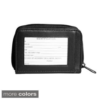 Royce ID Genuine Leather Wallet with Key Fob