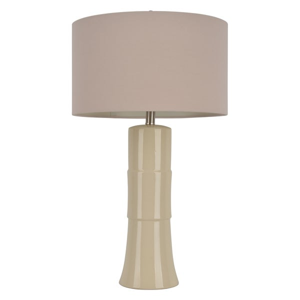 29-inch Ivory Crackle Table Lamp