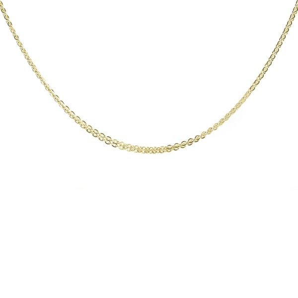 Sterling Silver Goldtone Double Necklace Chain