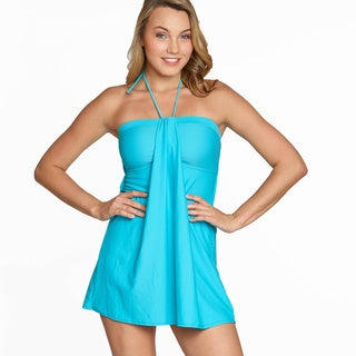 Jordan Taylor Women's Blue Bandeau Swimdress