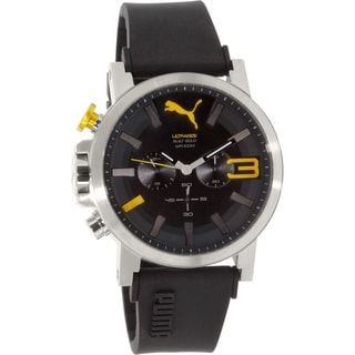 Puma Men's PU103981003 Silver Rubber Quartz Watch