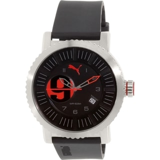 Puma Men's PU103851003 Black Rubber Quartz Watch