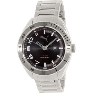 Puma Men's PU103951005 Silver Stainless-Steel Quartz Watch