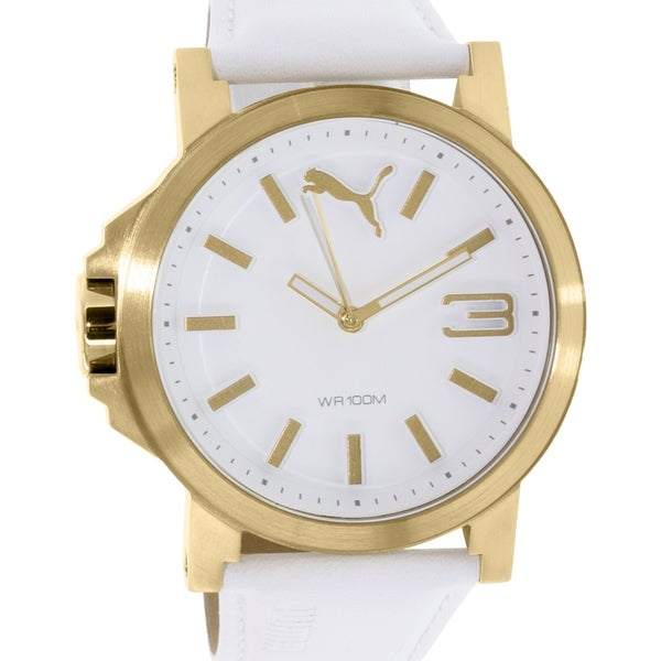 Puma Men's PU103462016 Gold Leather Quartz Watch