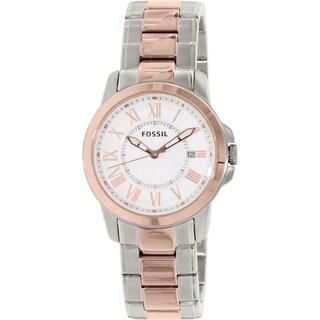 Fossil Women's Grant FS4967 Rose Gold Stainless-Steel Analog Quartz Watch