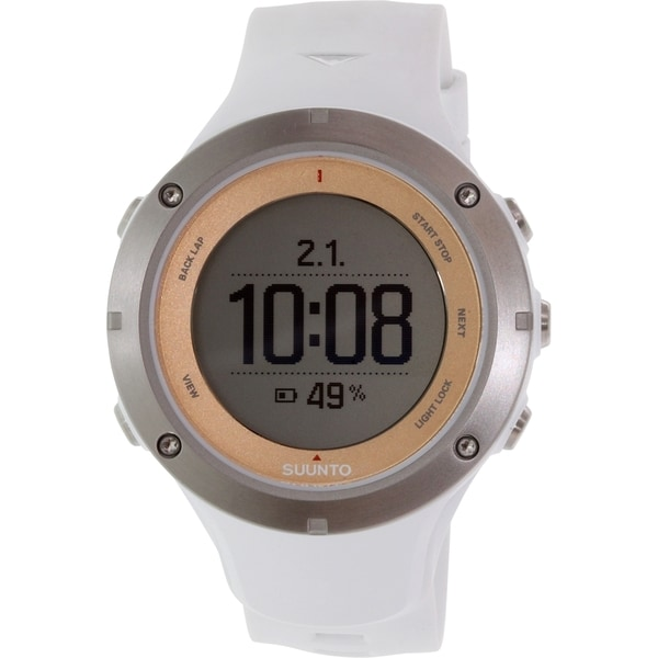 Suunto Men's Ambit 3 SS020672000 White Rubber Quartz Watch