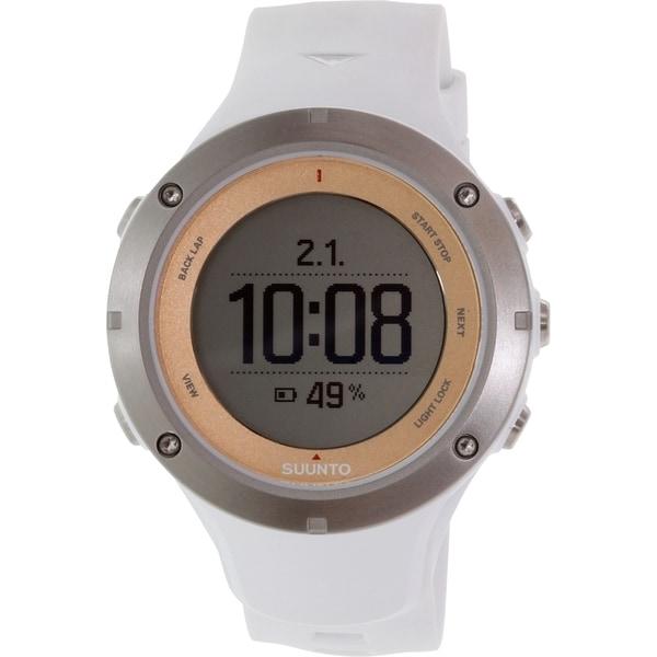 Suunto Men's Ambit 3 SS020672000 White Rubber Quartz Watch