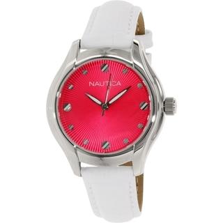Nautica Women's N10508M White Leather Quartz Watch
