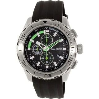 Nautica Men's N18722G Black Silicone Quartz Watch