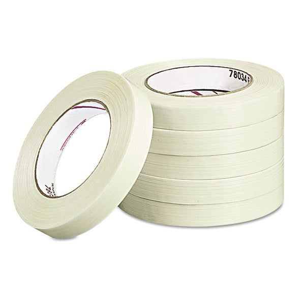 Universal Medium-Duty Filament Tape (Pack of 5 Rolls)