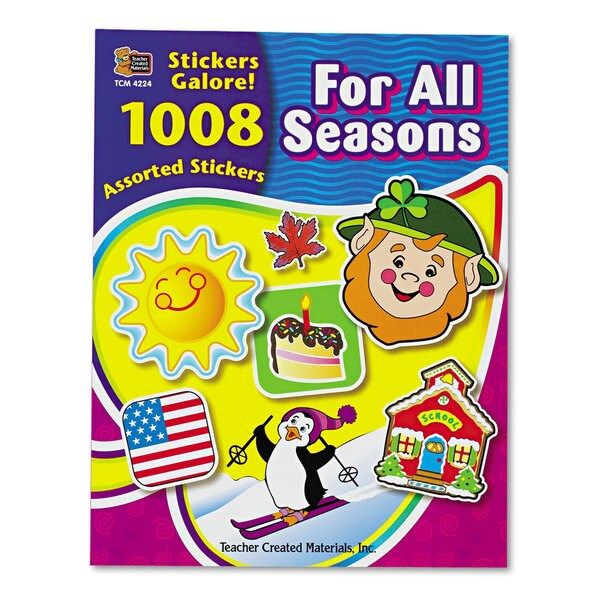Teacher Created Resources Sticker Book (2 Packs of 1,008 Stickers)