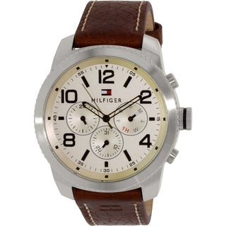 Tommy Hilfiger Men's 1791107 Brown Leather Quartz Watch