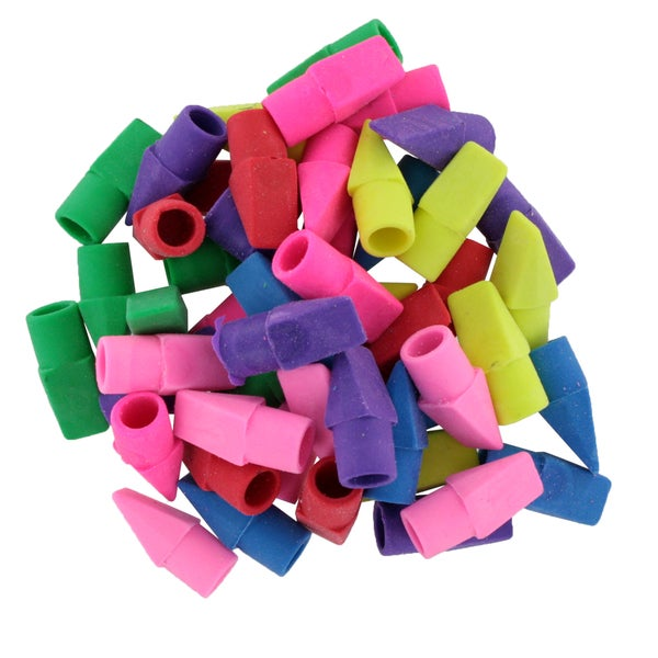 Bazic Assorted Colors Pencil Top Erasers