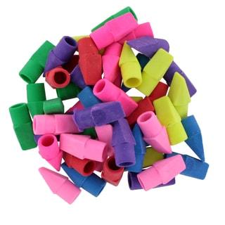 Bazic Assorted Colors Pencil Top Erasers