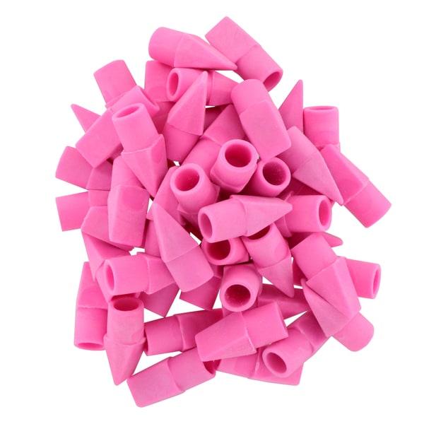 Bazic Standard Non-Abrasive Pink Erase Top Caps
