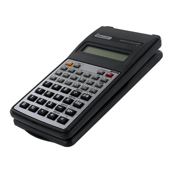 Bazic 10-Digit Black Scientific Calculator with Flip Cover