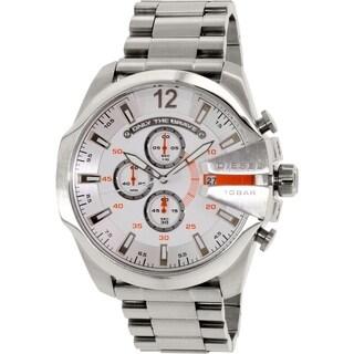Diesel Men's Mega Chief DZ4328 Silver Stainless-Steel Quartz Watch