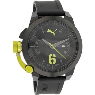 Puma Men's Advance PU103781003 Black Rubber Quartz Watch