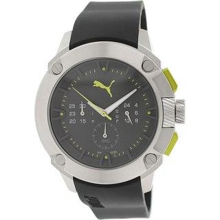 Puma Men's PU103711003 Black Rubber Quartz Watch