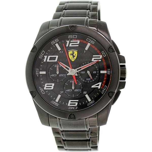 Ferrari Men's Paddock 0830033 Black Stainless-Steel Quartz Watch