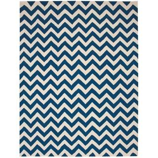 Nourison Portico Indoor/Outdoor Navy Rug (8' x 10'6)