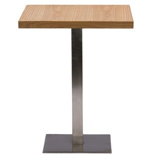 Keogh Contemporary Wood And Metal Square Dining Table