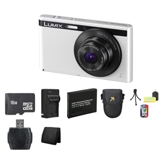 Panasonic Lumix DMC-XS1 White 16.1 MP Digital Camera and 16GB Card Bundle