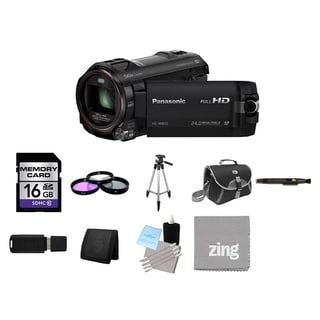 Panasonic HC-W850 Twin Camera Full HD Camcorder and 16GB Card Bundle