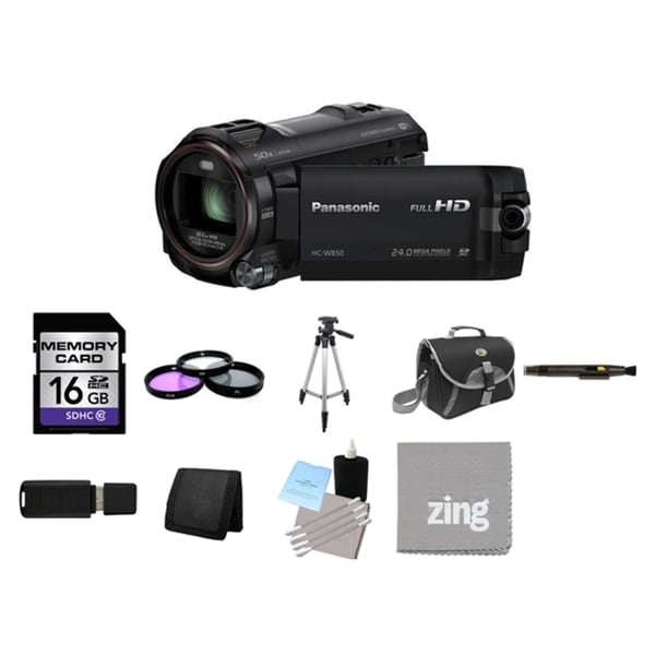Panasonic HC-W850 Twin Camera Full HD Camcorder and 16GB Card Bundle