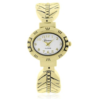 Geneva Platinum Adjustable Cuff Watch