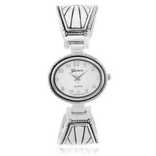 Geneva Platinum Women's Adjustable Cuff Watch