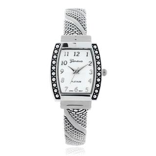Geneva Platinum Women's Metal Cuff Watch