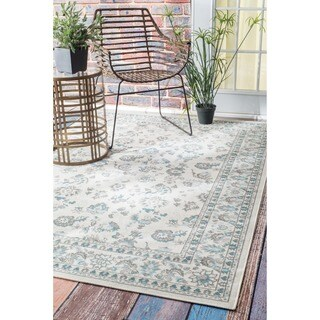nuLOOM Traditional Modern Indoor/ Outdoor Cream Porch Rug (8'10 x 11'10)