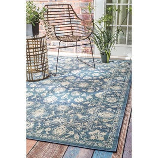 nuLOOM Traditional Modern Indoor/ Outdoor Vintage Porch Rug (5' x 7'6)